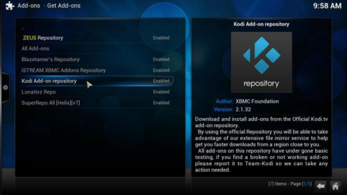 Install YouTube Kodi repository