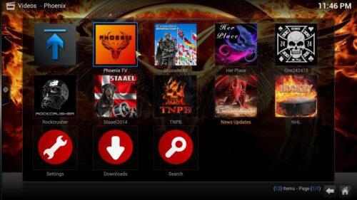 Install Phoenix Kodi Content