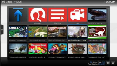 Install YouTube Kodi interface