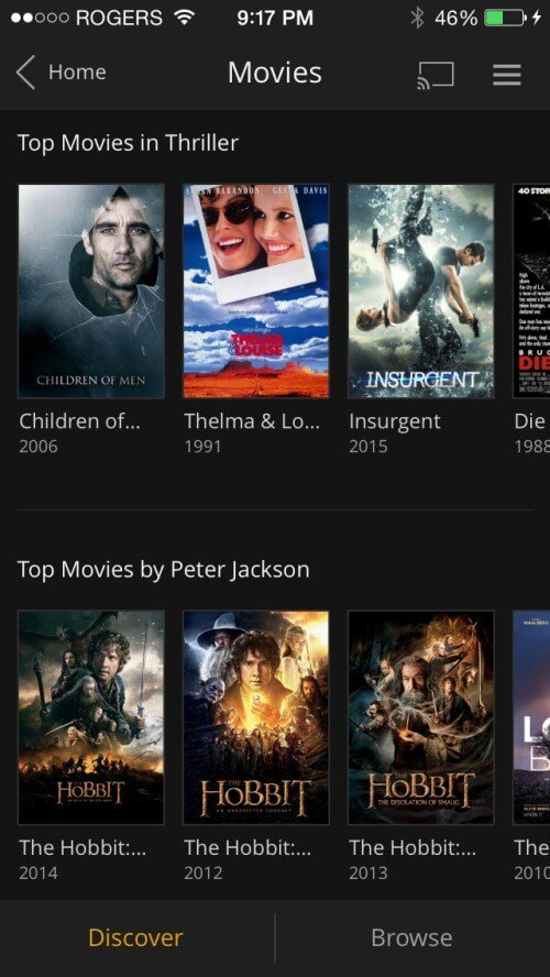 Plex iOS App Update Discover Mode
