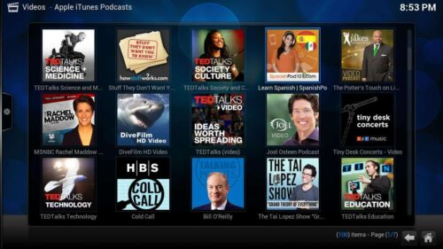 Install Apple Podcasts Kodi thumbnails
