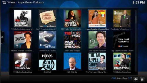 Install Apple Podcasts Kodi thumbnails
