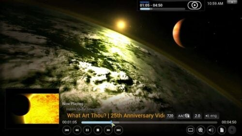 Install NASA Kodi sample
