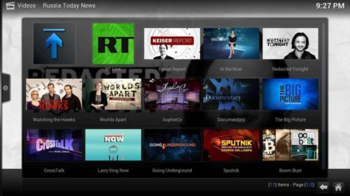 Install Russia Today Kodi documentaries
