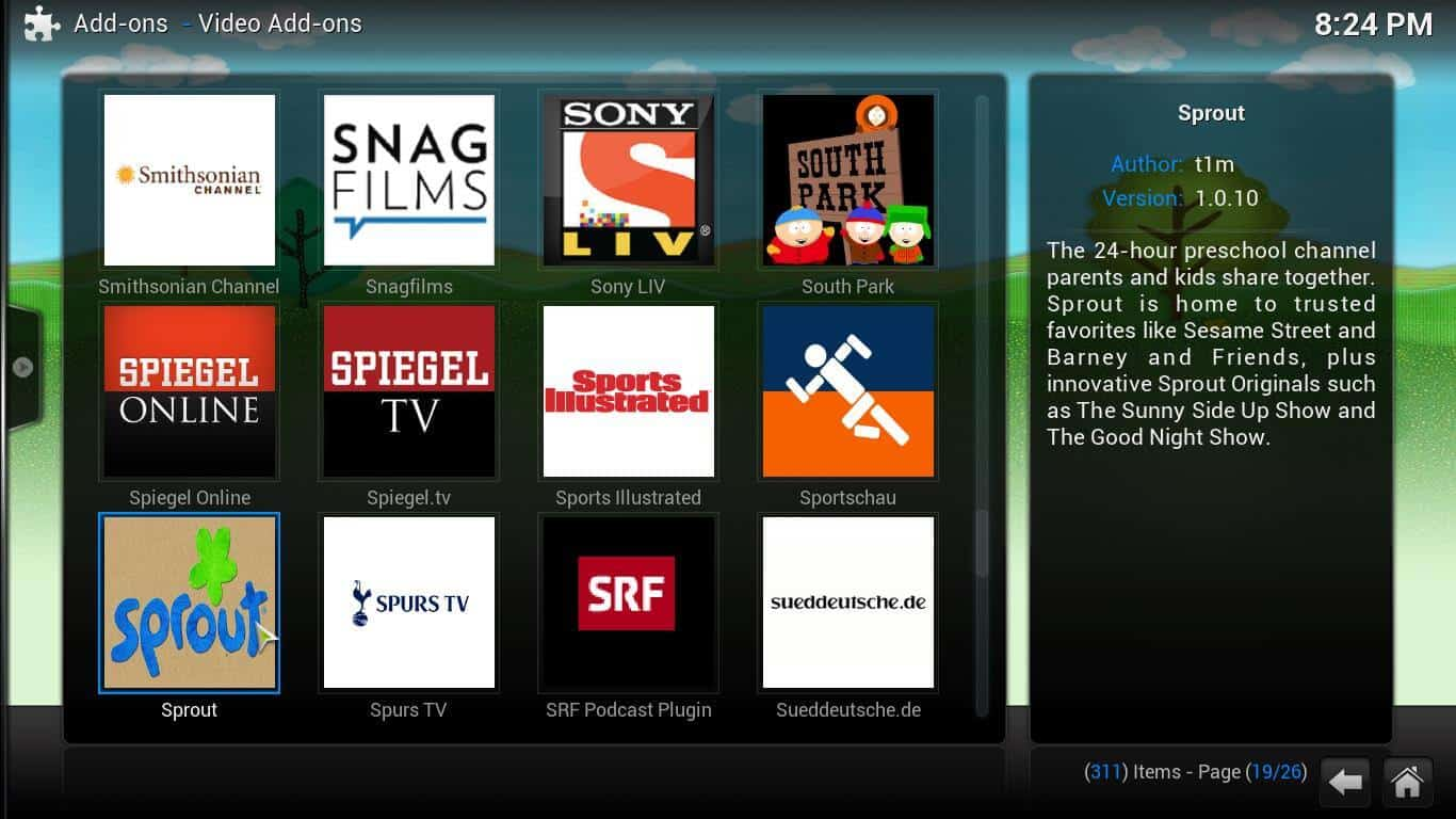 Guide: How to install addons from the official Kodi repository