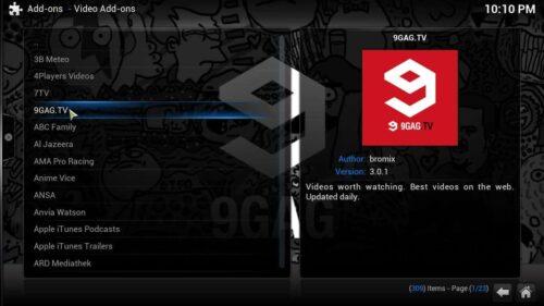 9GAG TV Kodi addon install