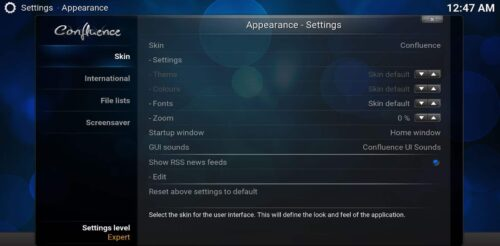 Great Kodi skins choose skin