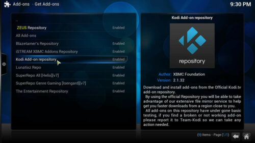 Install Russia Today Kodi official repository
