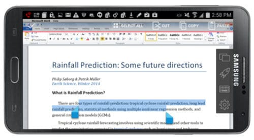 Parallels Access Review Text Selection