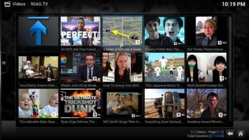 9GAG TV Kodi addon videos