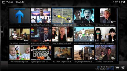 9GAG TV Kodi addon videos