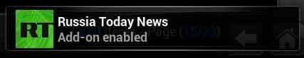 Install Russia Today Kodi success