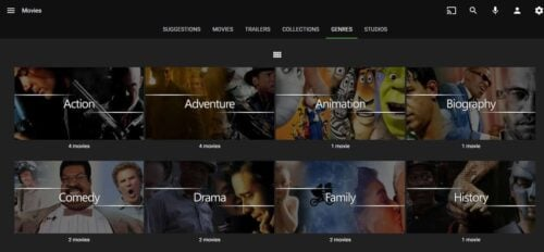 Emby home server organized-