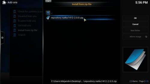 Install NFL Replays Kodi repository