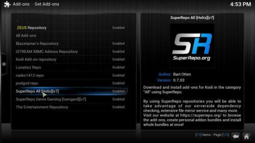 Install Kodi SportsDevil SuperRepo