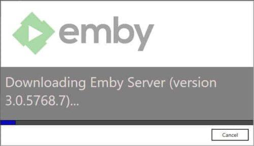 Emby Server Setup installing