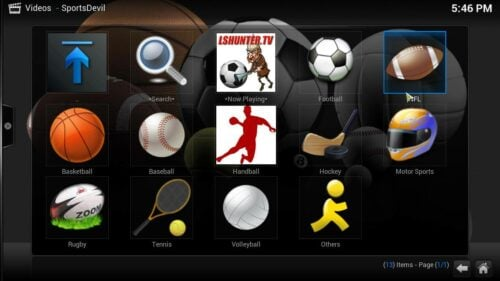 Sports Addon for Kodi streams