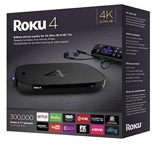 Roku streamer 4k video price tag