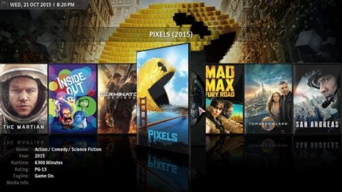DVD case visualization for Kodi