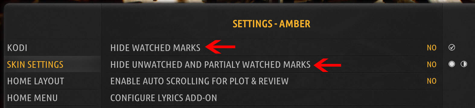 How to disable Kodi Watched status logging?