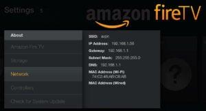 Find Fire TV IP Address