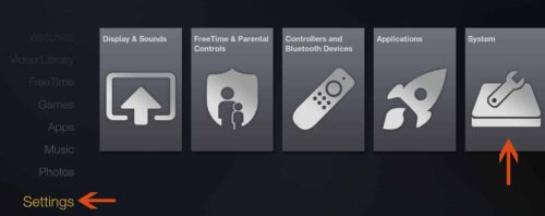 Fire TV System Settings