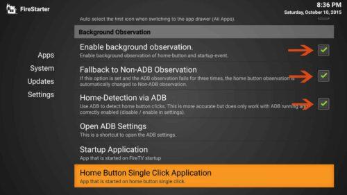 FireStarter Configuration for Fire TV