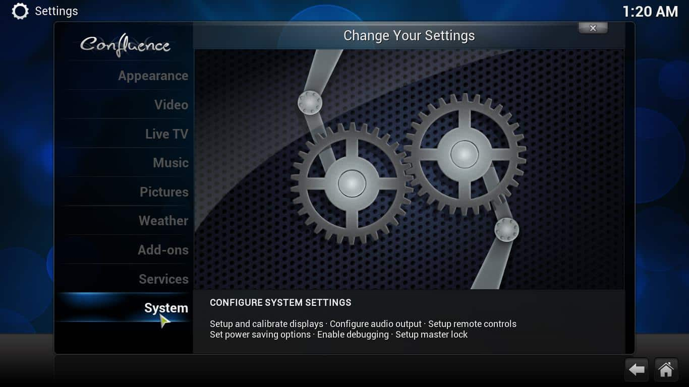 how to change the look of kodi