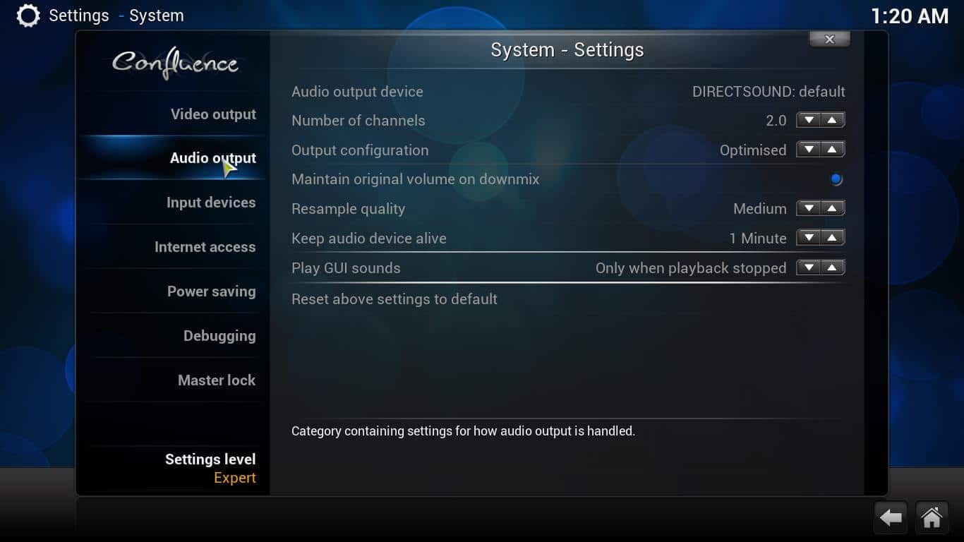 Kodi Audio Settings: understanding the audio options