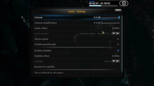 Volume for Kodi change volume
