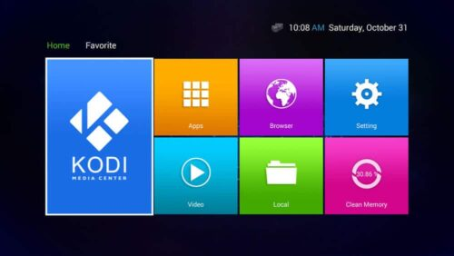 T8-AML-V3 Android TV Box Home Screen