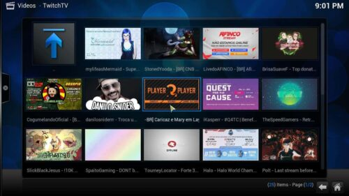 Install Kodi Twitch main menu