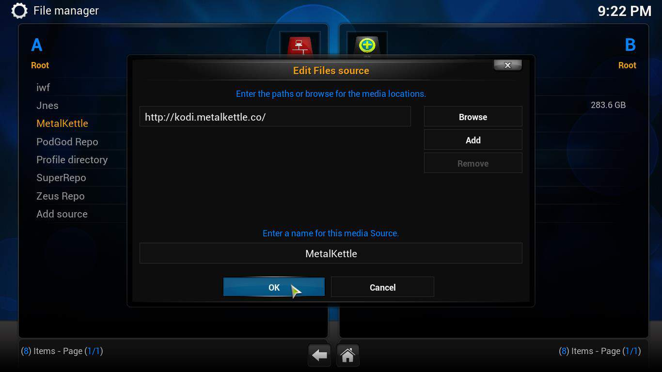 Guide: How to install MetalKettle Repository for Kodi