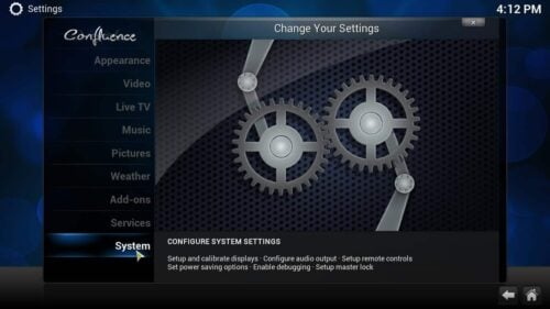 Kodi Video Settings menu