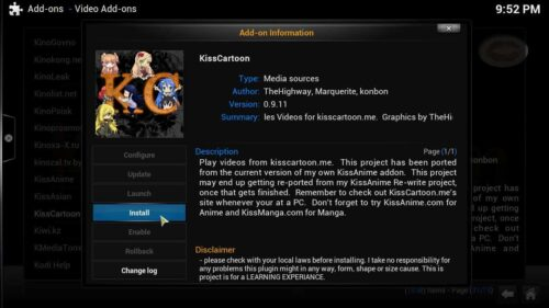 Kodi Addons for Kids KidsCartoon
