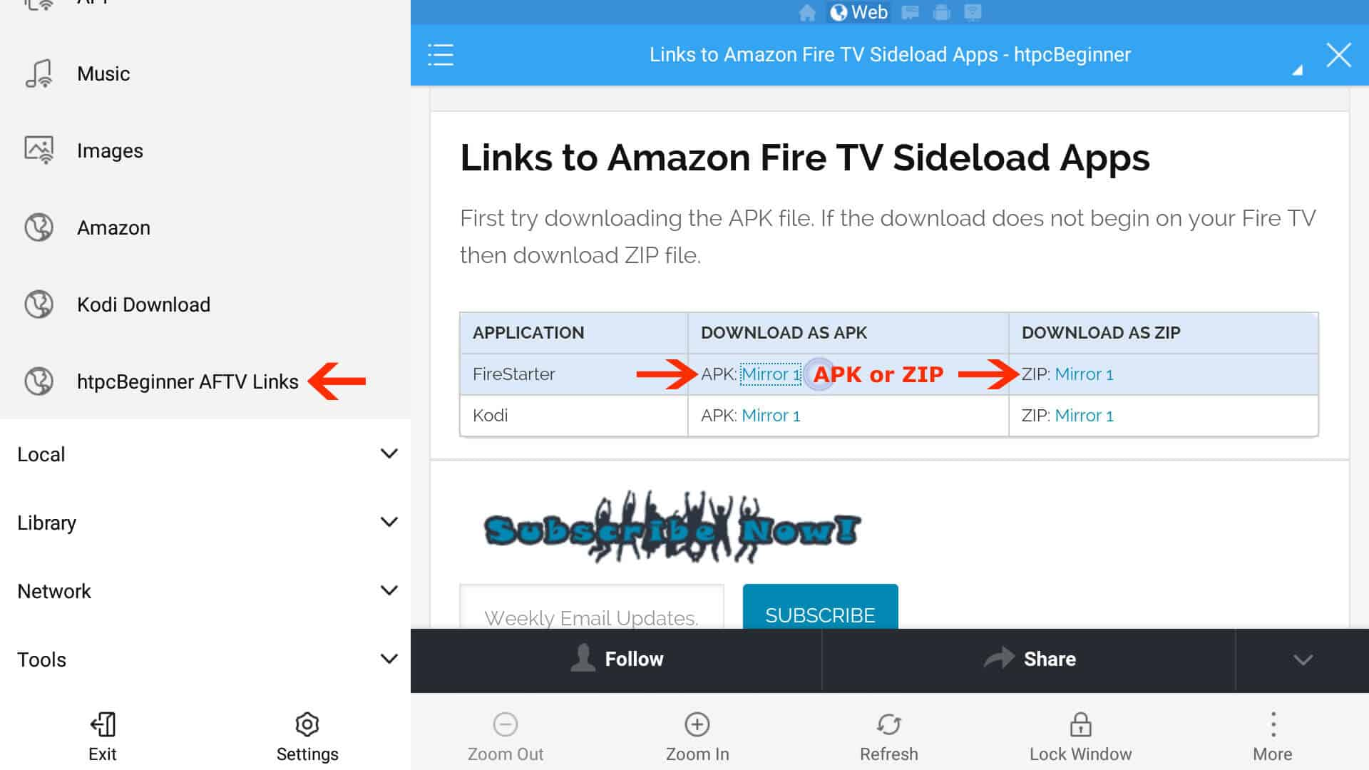 Install FireStarter on Fire TV without adb and computer