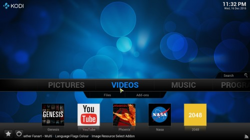 Kodi customize homescreen addons