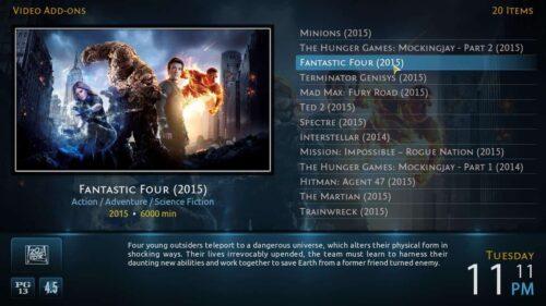 Kodi movie list Fanart Metropolis