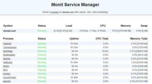 Monitor Web Server Status with Monit - Apache and MySQL