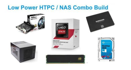 Low Power Energy Efficient HTPC-NAS Combo Build 2016
