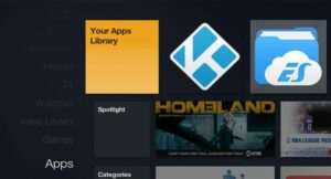 Kodi Shortcut under Apps Section