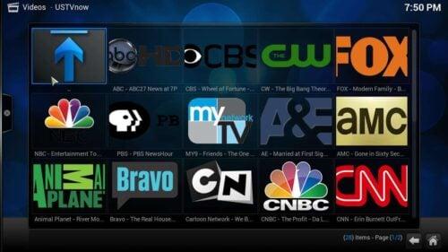 Setup USTVNow Kodi Addon channels