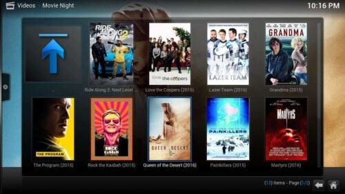 Install Movie Night Kodi content