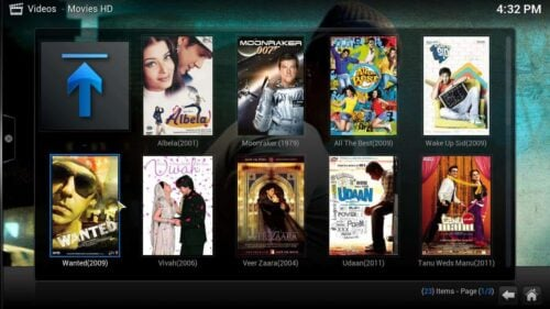 Kodi plugin Movies HD select movie