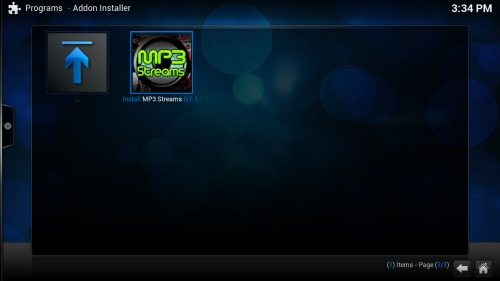 MP3 Streams Kodi Plugin music on Kodi
