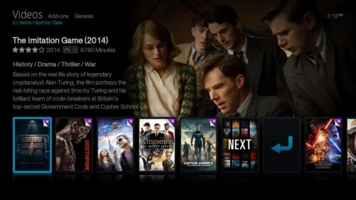 Bello Interface Kodi skin Netflix look