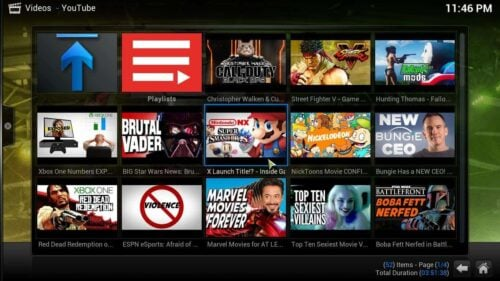 Install Kodi Machinima addon contents