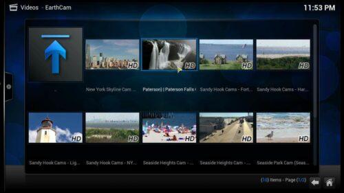 Kodi Earthcam Addon content