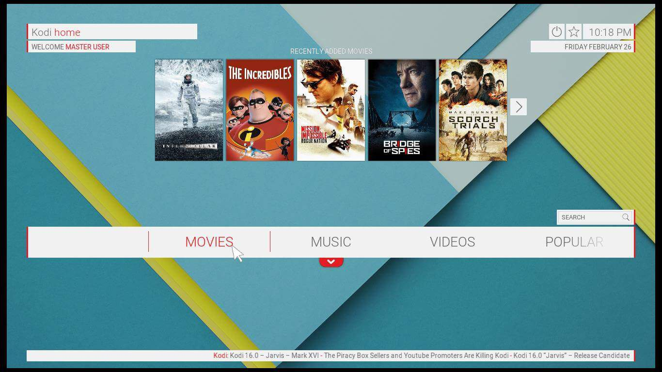 Kodi Unity Skin review: sweet transitions and neat looks