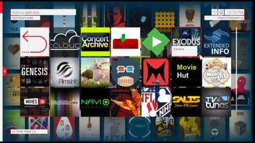 Kodi Unity theme thumbnails